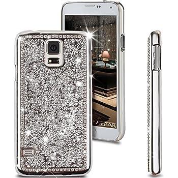 samsung galaxy s5 bling phone cases. galaxy s5 case, ikasus shiny sparkle bling glitter handcraft crystal [ rhinestone diamond] hard samsung phone cases u