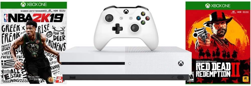 Microsoft XBOXSNBARDR2 Xbox One S Consola con NBA 2K19 + RedDead ...