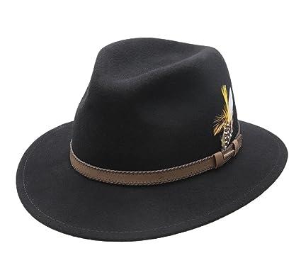 10038de52378a Stetson Rocklin Wool Felt Fedora Hat Packable at Amazon Men s ...