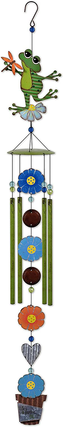 Sunset Vista Designs 93358 Country Gardens Wind Chime, Frog