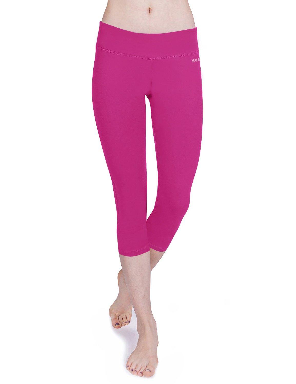 Baleaf Womens Capri Tights Yoga Running Pants Leggings