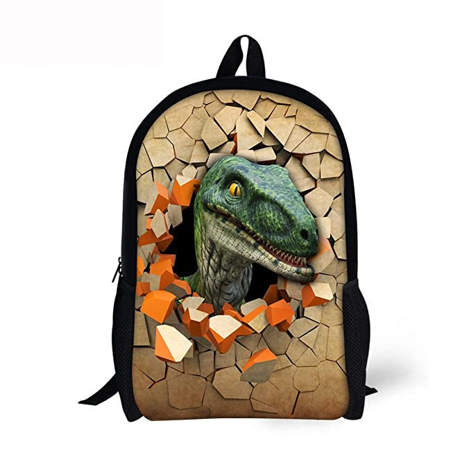 ThiKin Children School Book Bag Kids Dinosaur Printing Backpacks