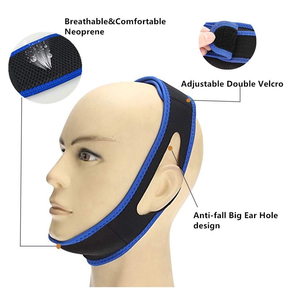 Correa para la barbilla anti ronquidos, la solución más efectiva para dejar de roncar - Cinturón de reducción de ronquidos ajustable-Dejar de roncar para ...