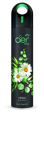 Godrej aer spray, Premium Air Freshener for Home & Office - Relax (270ml)