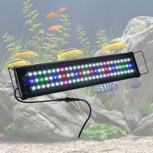 "Yescom 24"" Multi-Color 78 LED Aquarium Light for 24-30inches Freshwater Saltwater Fish Tank Lamp from Yescom"