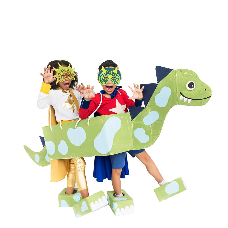 Paquet de 5 Feuilles KATOOM Masque Dinosaures 12 pi/èce Masque Dinosaures Masque de Dessin anim/é et 40 pi/èces Autocollants Tatouage de Dinosaure pour Les Enfants F/ête danniversaire Cadeau de Fille