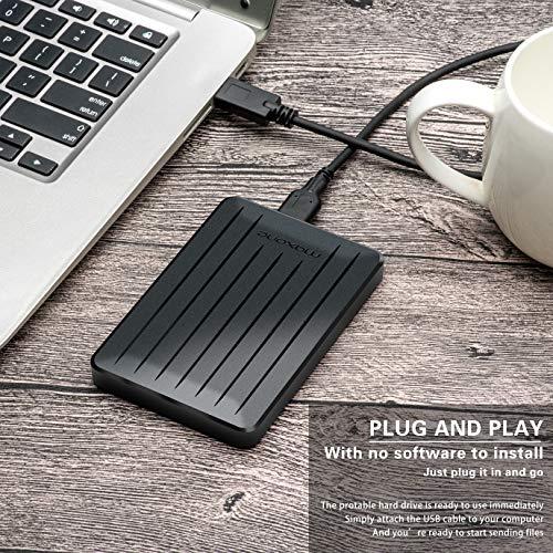 160GB Portable External Hard Drive- 2.5 Inch External Hard Drives for Laptop,Desktop,Wii U,MacBook,Chromebook (160GB, Black) by Maxone (Image #5)