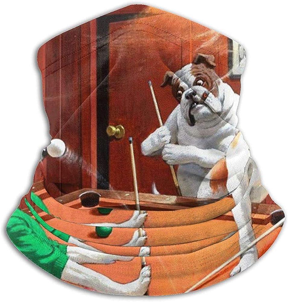 BaoBei-shop Perros jugando al billar Perro divertido Bufanda a prueba de viento Pasamontañas Máscara de esquí Mascarilla fría Sombreros de invierno Gorros Polainas: Amazon.es: Ropa y accesorios