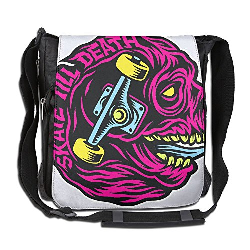 Skate-till-death Fashion Print Diagonal Single Shoulder Bag