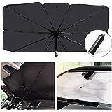 helloleiboo Car Windshield Sun Shade UV Rays and Heat Sun Visor Protector Foldable Reflector Umbrella