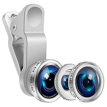 993627f6b4e Yarrashop® 3 en 1 Teléfono móvil Kit de lentes de cámara, Lente Ojo ...