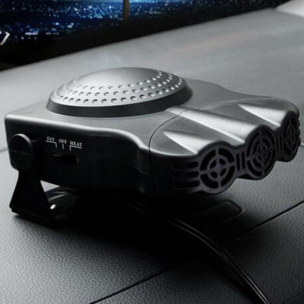 Careshine, riscaldatore dell'auto a tre fori, 12 V, 150 W, con sbrinatore e ventola di raffreddamento, in ceramica riscaldatore dell' auto a tre fori
