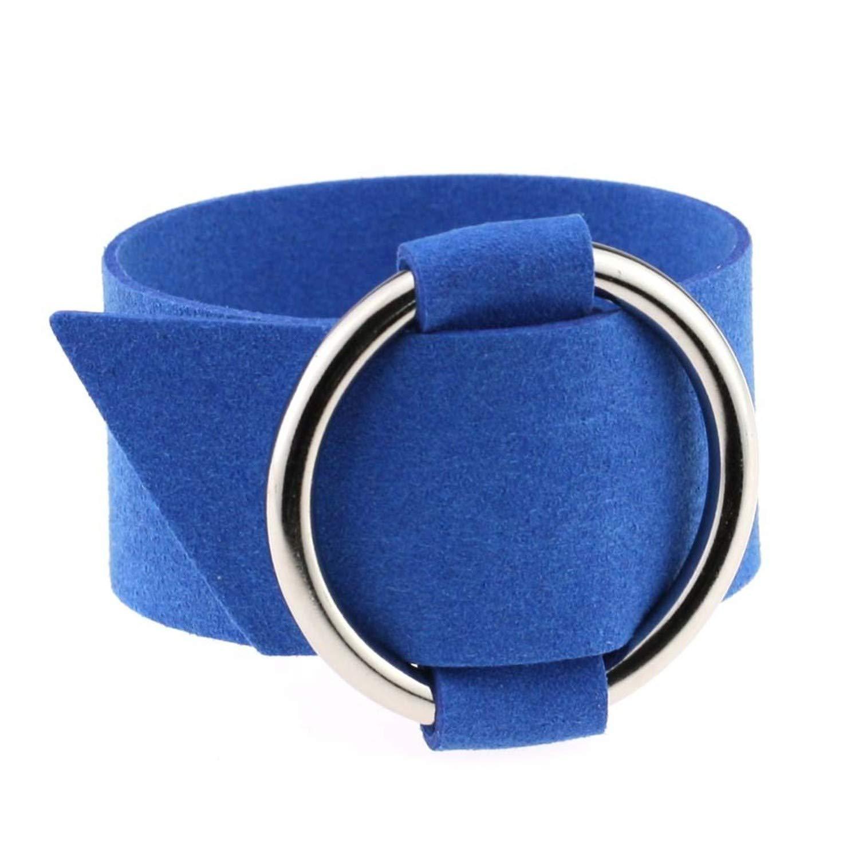 d3937ba8 Amazon.com: JEWH Charm Wide Black Velvet Leather Bracelets ...