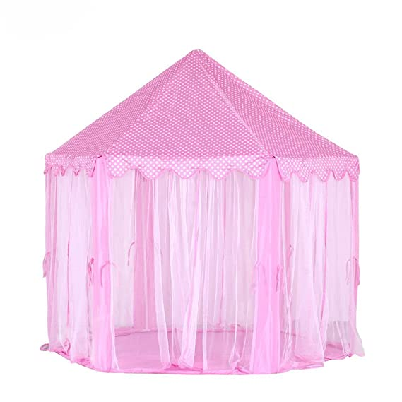 Blue SavingPlus Children Kids Play Tent Fairy Princess Girls Boys Hexagon Playhouse House Blue