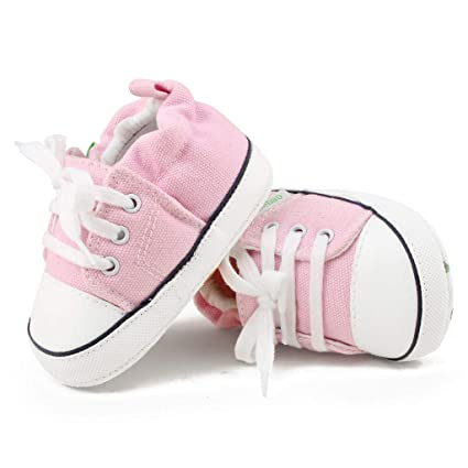 3efb43e2e Amazon.com: ❤ Mealeaf ❤ Newborn Baby Girls Boys Canvas Sneaker Anti-Slip  First Walkers Soft Sole Shoes( 0-18 Months ): Home & Kitchen