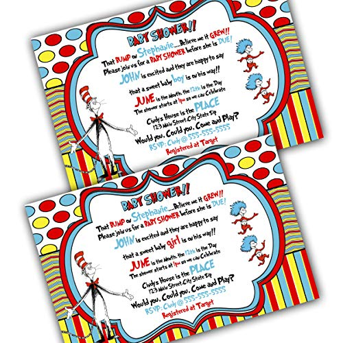 Dr. Seuss Baby Shower Invitation with