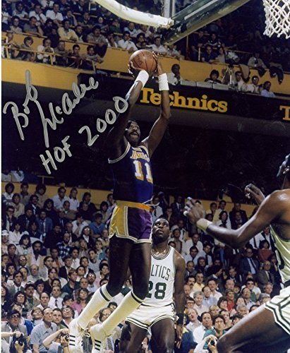 Lakers Los Angeles Autographed Photograph - BOB MCADOO HOF 2000 LOS ANGELES LAKERS SIGNED AUTOGRAPHED 8X10 PHOTO W/COA