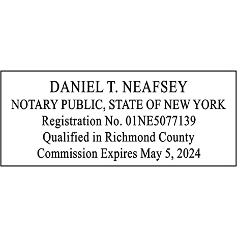 Image Unavailable Not Available For Color New York Notary Rectangle Stamp