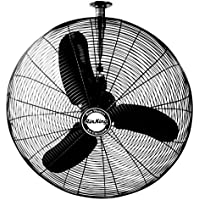 Air King 9375 30-Inch 1/3-Horsepower Industrial Grade Oscillating Ceiling Mount Fan with 8,780-CFM, Black Finish