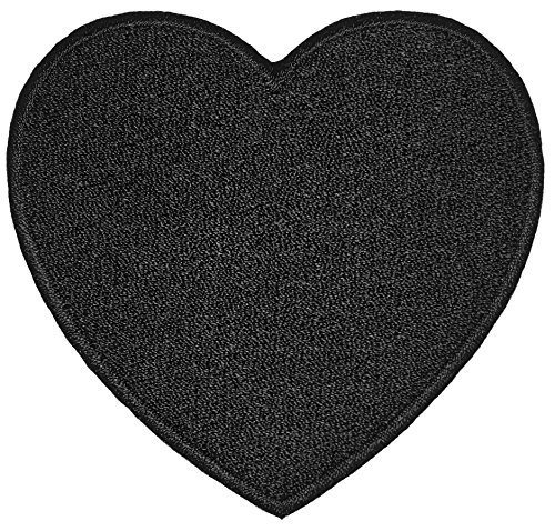 Heart Black Love Sign Sew on Iron on Embroidered Applique Patch