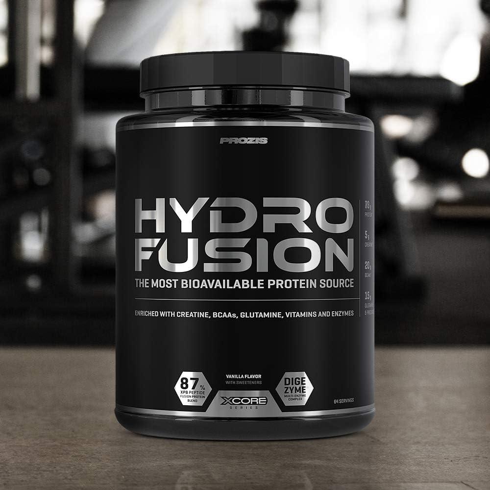 Xcore Nutrition Hydro Fusion Whey Protein Powder - Suplemento para el Crecimiento y la Recuperación Musculares, Sabor a Vainilla - 2000g