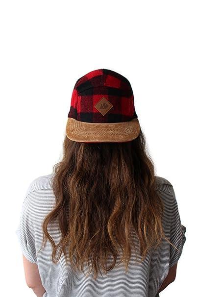 a88c4f5084 Hipster Buffalo Plaid Wool Camper Five Panel Hat Strapback Baseball ...