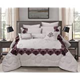 Double Comforter 8Pcs Set By Hours, King Size,Yuki-03