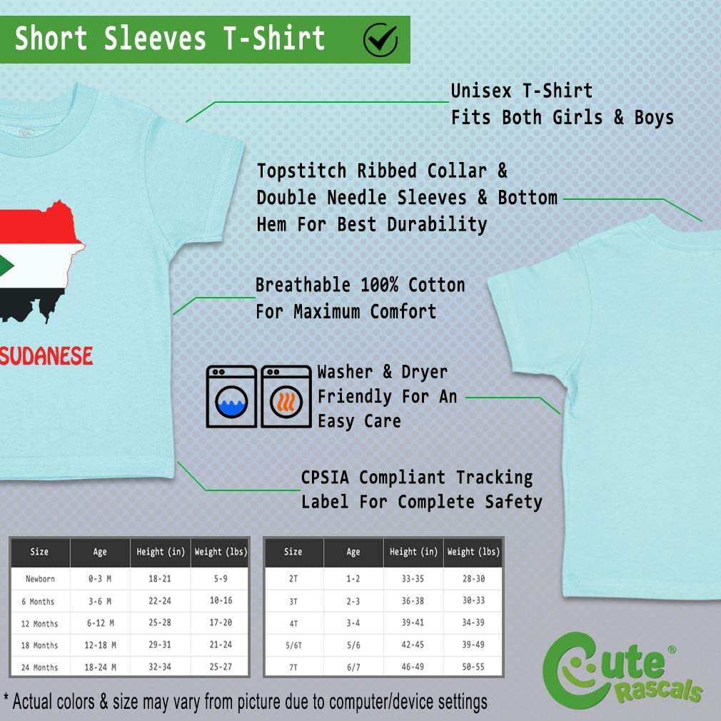 Custom Baby /& Toddler T-Shirt Little Sudanese Cotton Boy Girl Clothes