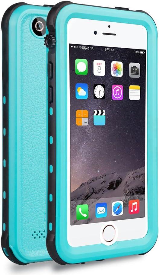 iPhone 5 5S SE Waterproof Case, Dooge Shockproof Dirtproof Snowproof Rain Proof, Heavy Duty Full Protection Phone Case Cover Rugged IP68 Certified Waterproof Case for iPhone 5 5S SE