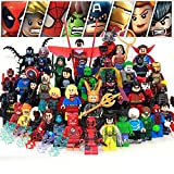 Superheroes Figures Large Set Pack of 42 Collection Building Blocks Toys (Plastic) Compatible with Lego
