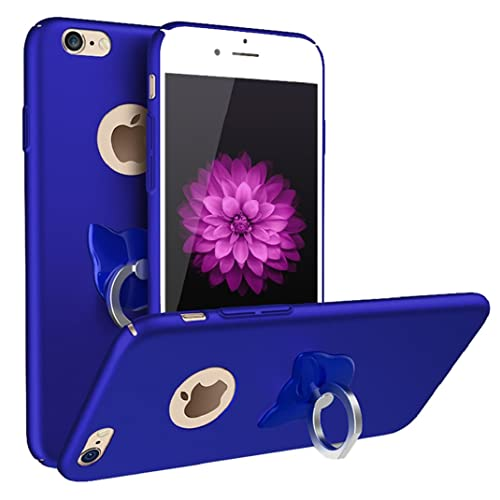 Iphone 8 Plus Case Nurbo Creative Unique Design Pc Plastic Cover With Finger Ring Holder For Iphone 8 Plus 5.5 Inch Royal Blue