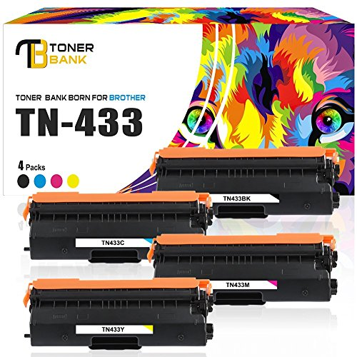 mpatible Brother TN433 TN433BK Toner Cartridge for Brother HL-L8360CDW HL-L8360CDWT HL-L8260CDW MFCL8900CDW MFCL8610CDW MFCL9570CDW MFC-L8900CDW Printer High Yield TN-433 TN431 ()