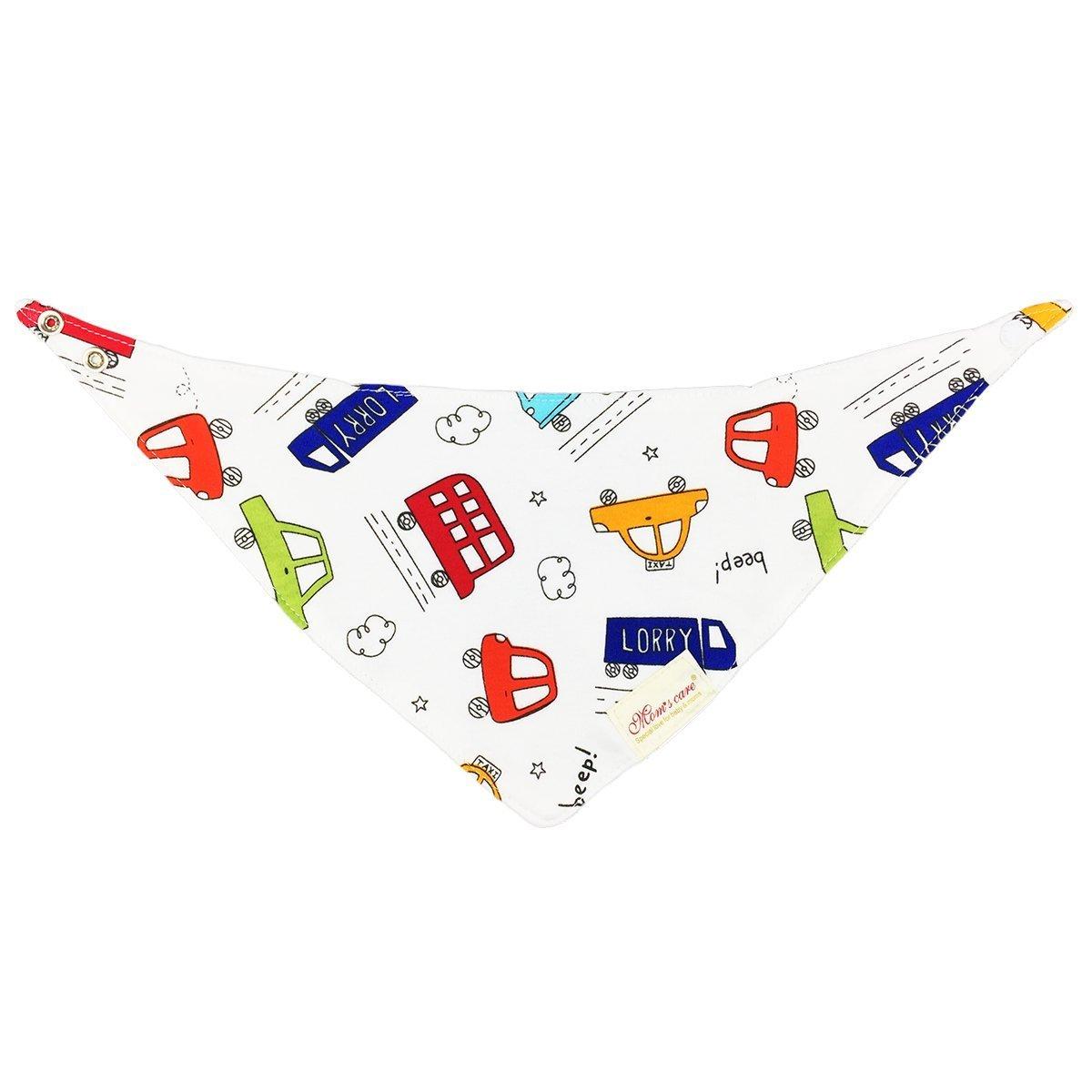 dooppa 6pcs Bandana Dribble babero para bebés y niños Super absorbente 100% algodón diseño para sialorrea dentición Bebés