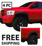 Fender Flares for 2002-2008 Dodge Ram 1500; 2003-2009 Ram 2500 3500 (ONLY Fit Fleetside models with 6.5' Bed) | Fine-Textured Matte Black Paintable OE Style 4pc