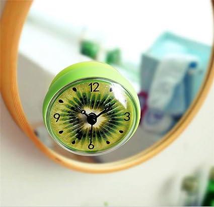 Reloj de Pared 3D Fruta de kiwi Reloj de baño / WC / Cocina / Reloj