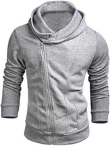 Mens Autumn Winter Long Sleeve Solid Plaid Hoodies Sweatshirt Tee Tops Outwear Blouse