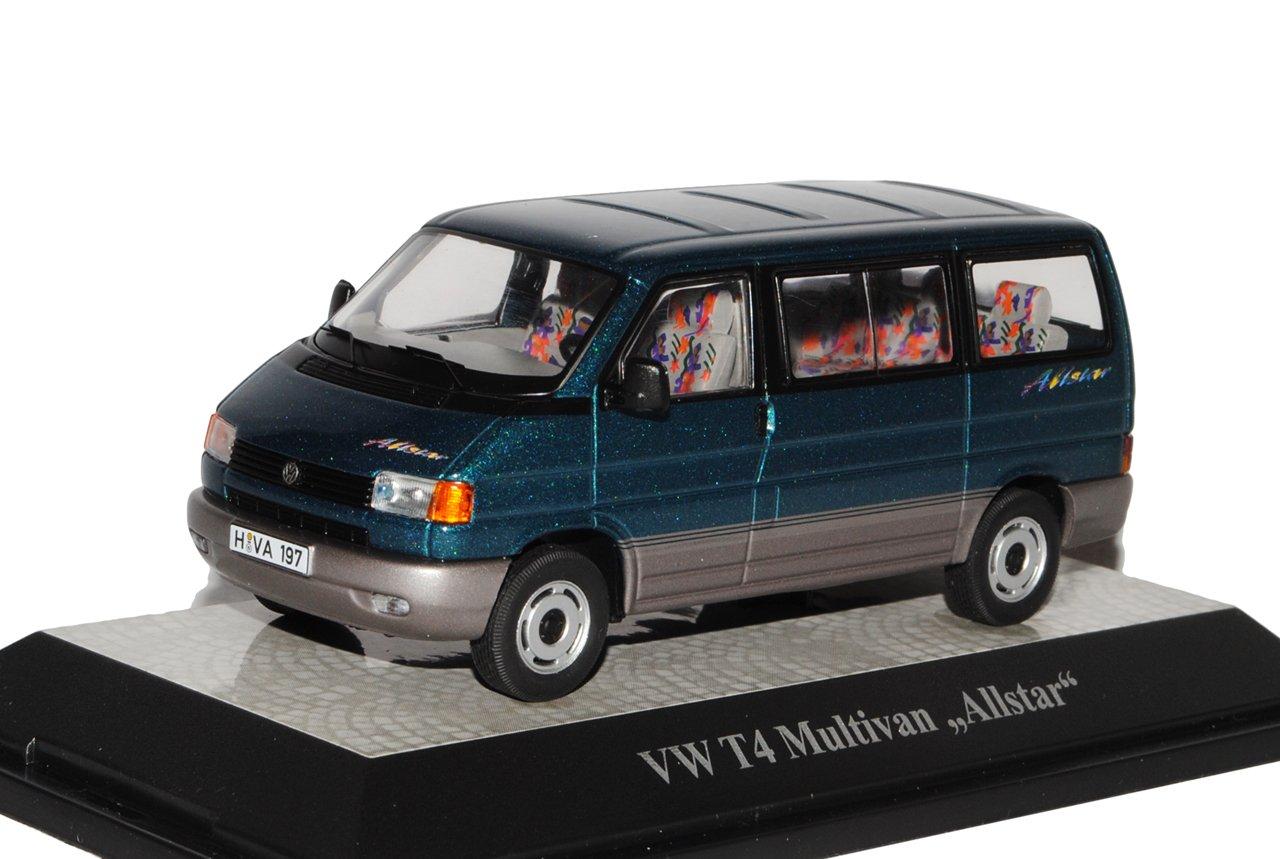 Premium ClassiXXs Volkwagen T4 Multivan Allstar Transporter Personen Grün 1990-2003 1/43 Modell Auto mit individiuellem Wunschkennzeichen