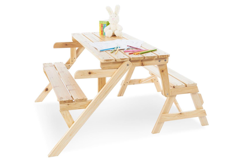 Pinolino 201351 2in1 Kindersitzgarnitur und Gartenbank 'Elli', braun