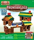 Ideal 160 Piece Frontier Logs Classic Wood Building Set
