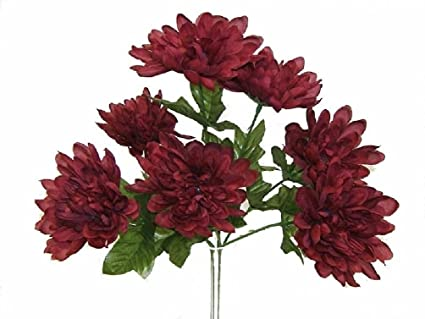 Amazon 5 mums wine burgundy wedding bridal bouquet silk flowers 5 mums wine burgundy wedding bridal bouquet silk flowers centerpieces mightylinksfo