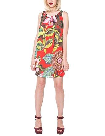 Desigual Elena - Robe - Trapèze - Imprimé - sans Manche - Femme  Amazon.fr   Vêtements et accessoires 0a9e7c9ab184