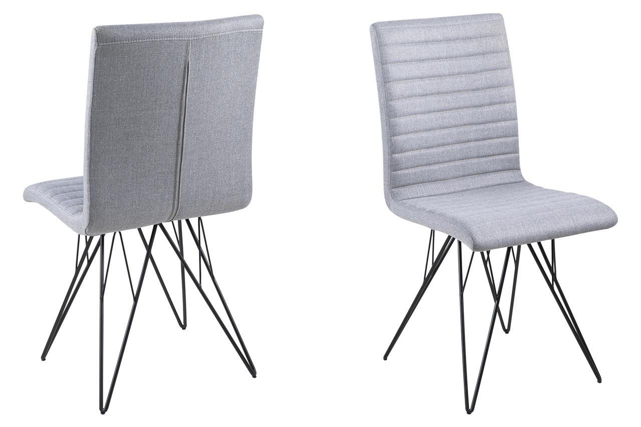 Fesselnde Esszimmerstühle Grau Stoff Foto Von 8 X Esszimmerstuhl Mit Drahtbeinen In Schwarz