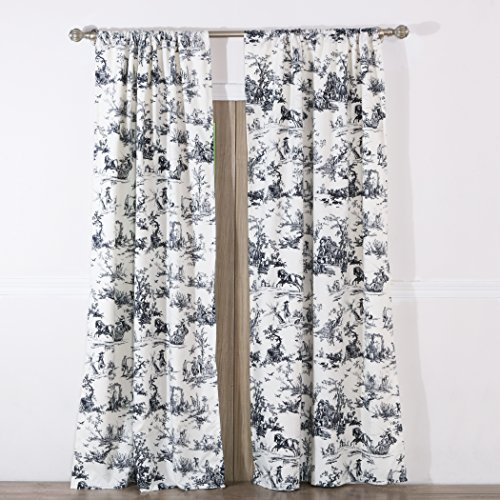 Greenland Home Classic Toile Curtain Panel Pair,