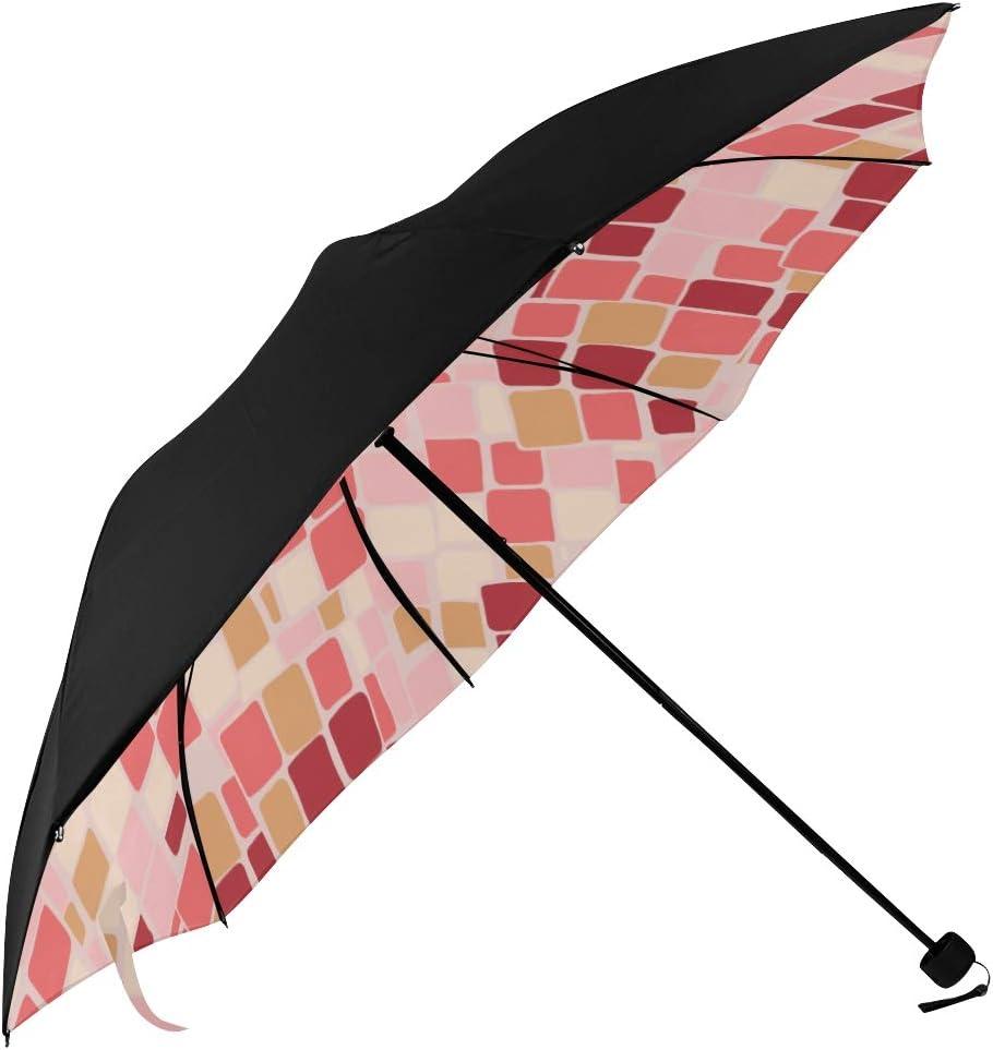 Umbrella Tartan Blue Black Underside Printing Compact Travel Sun Umbrella Parasol Anti Uv Foldable Umbrellas with 95/% Uv Protection for Women Men Lady Girl