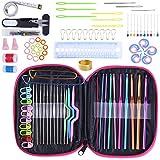 Crochet Hook Set 100pcs With Yarn Knitting Needles Sewing Tools Full Set Knit Gauge Scissors Stitch Holders DIY Craft Tools