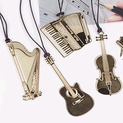 nacpy guitarra Metal oro cordón creativo marcadores sección Metal ...