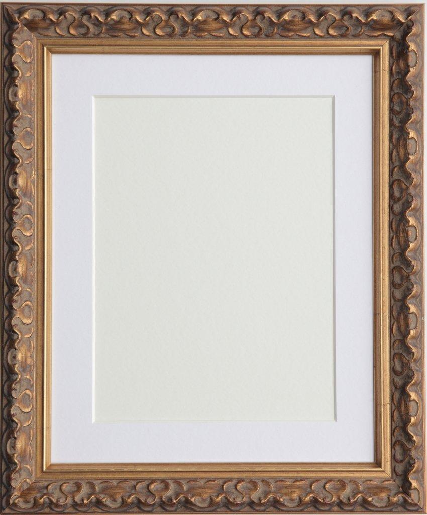 Vintage Adornos Shabby Chic Marcos de Fotos tama/ño 8/x6 para 6/x4 con Soporte de Color Blanco Tailored Frames-Vienna Oro