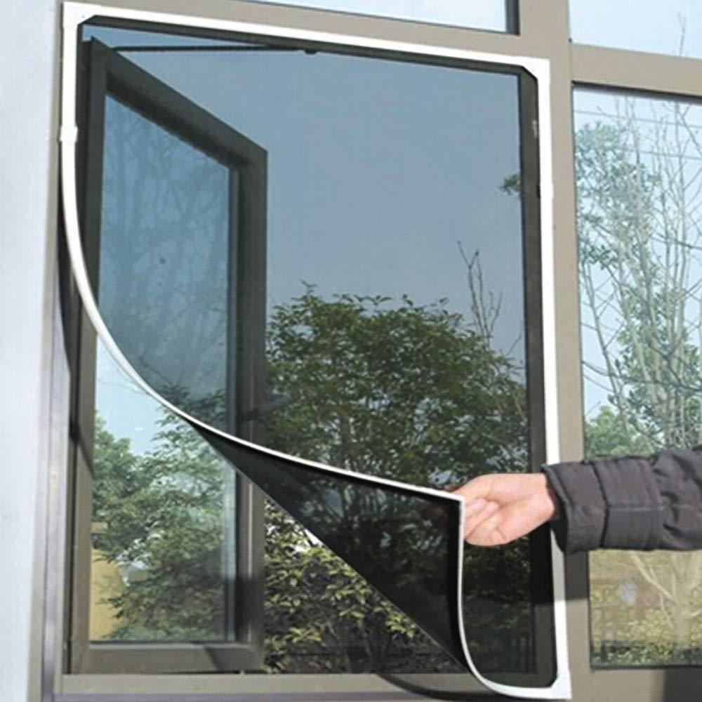 Indoor Insect Fly Screen Curtain Mesh Bug Mosquito Netting Door Window //150cm200cm /—by NszzJixo9 Window Screening,Mosquito Screens Grey