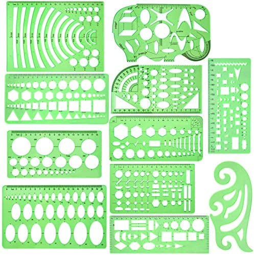 Geometric Template Measuring Transparent Designing product image