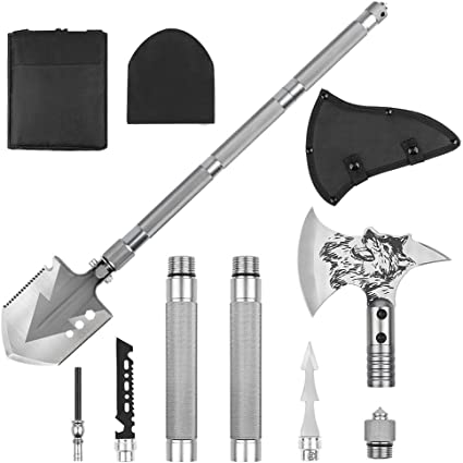 Tactical Axe Multi Function Survival Military Army Hatchet Spear Camping Combat